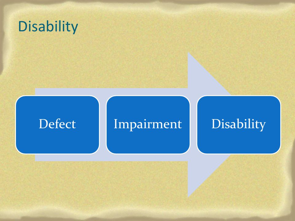 Disability Defect Impairment Disability