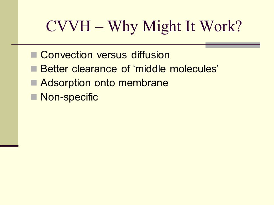 CVVH – Why Might It Work Convection versus diffusion