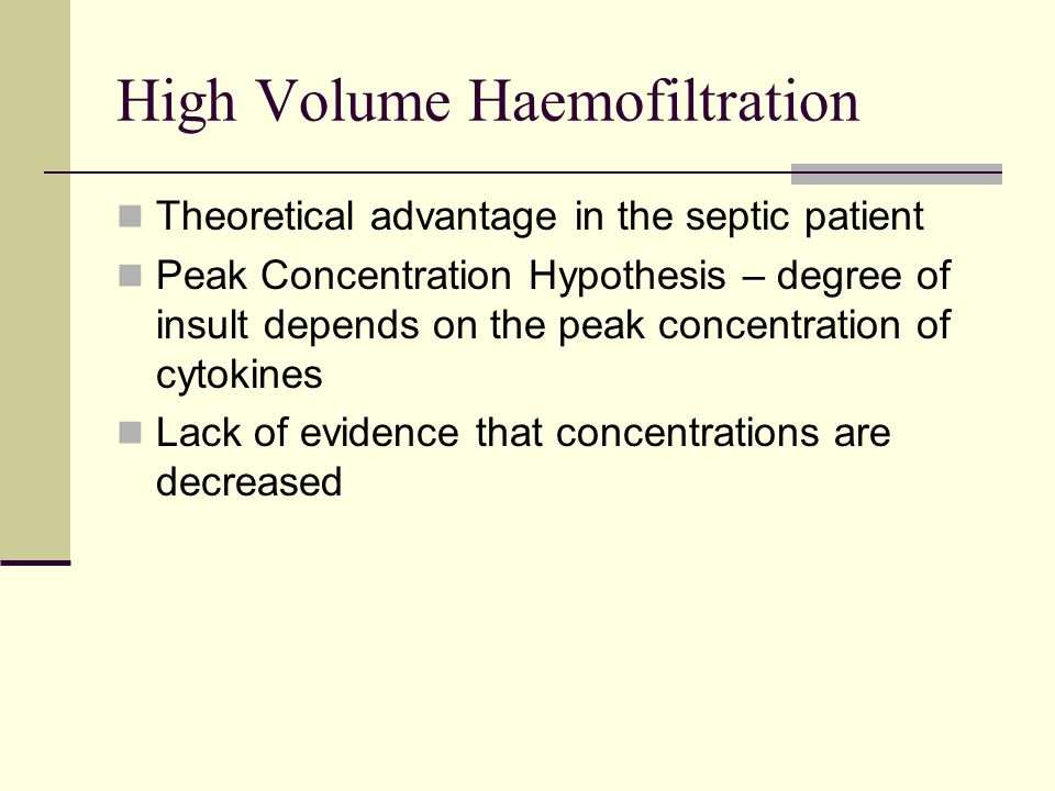 High Volume Haemofiltration