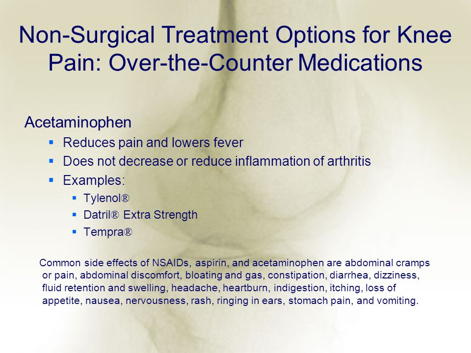 Non-Surgical Treatment Options for Knee Pain: Over-the-Counter Medications