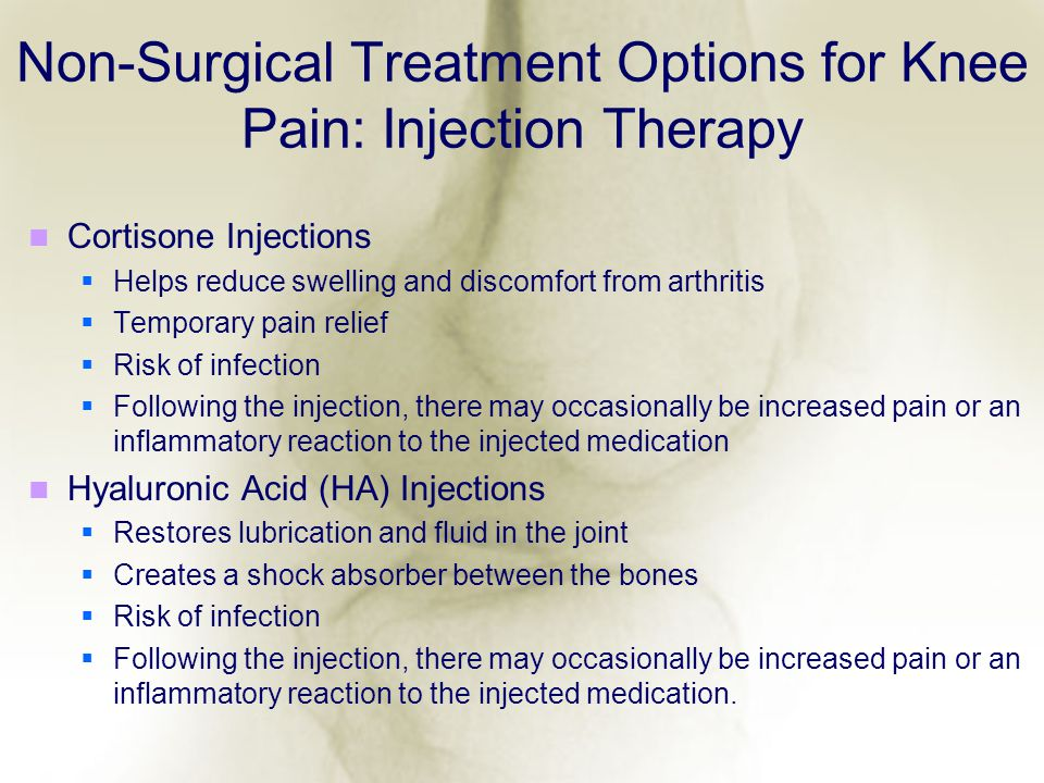Non-Surgical Treatment Options for Knee Pain: Injection Therapy