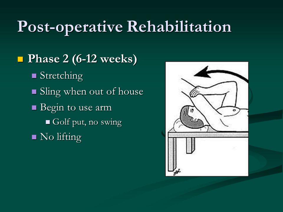 Post-operative Rehabilitation