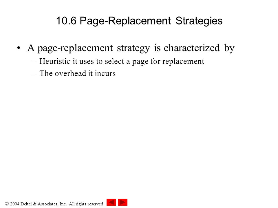 10.6 Page-Replacement Strategies