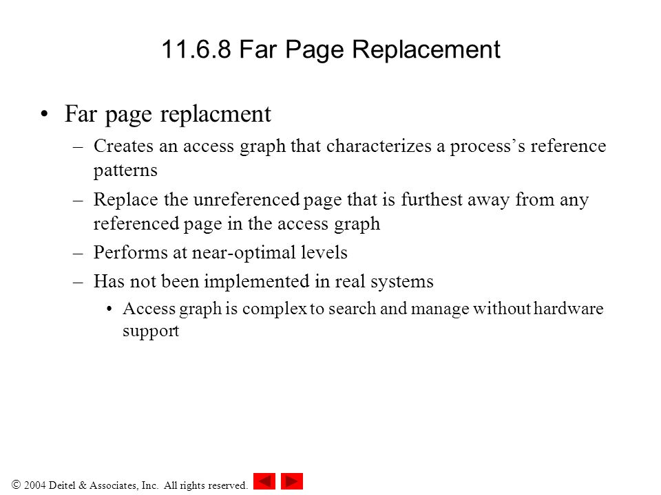 11.6.8 Far Page Replacement Far page replacment
