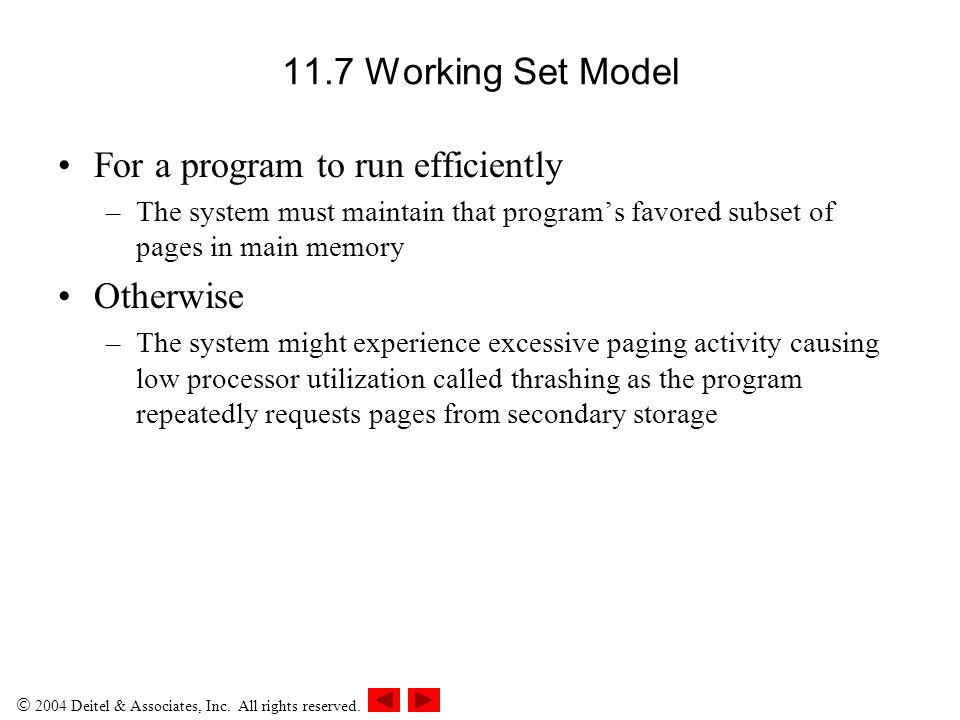 For a program to run efficiently