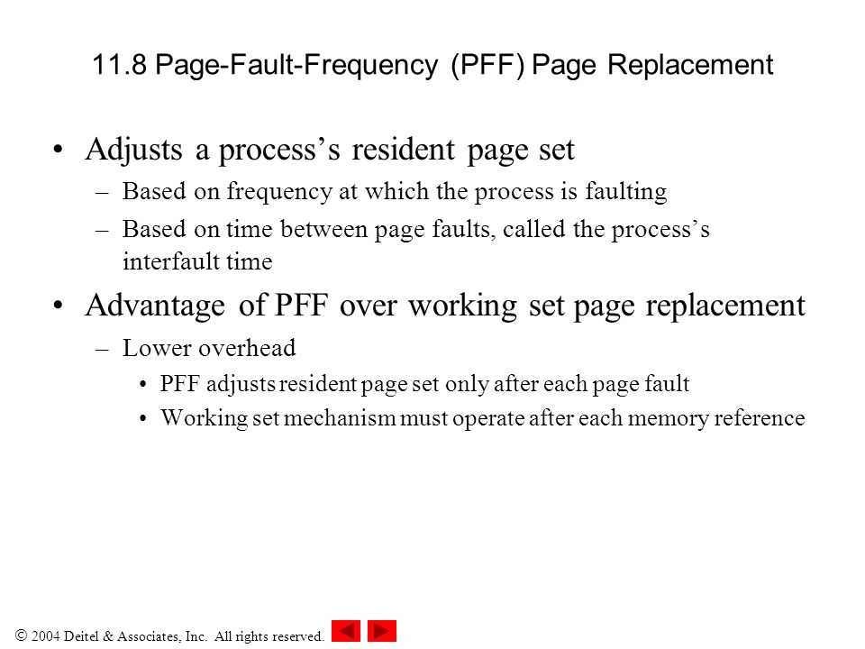 11.8 Page-Fault-Frequency (PFF) Page Replacement