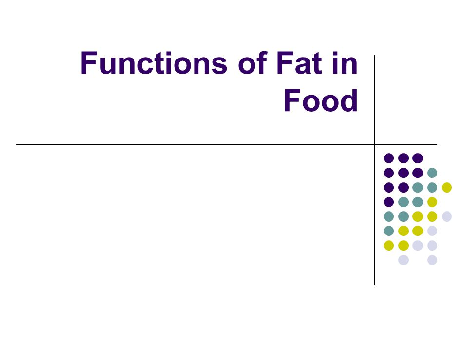 Functions of Fat in Food