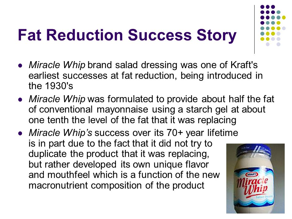 Fat Reduction Success Story