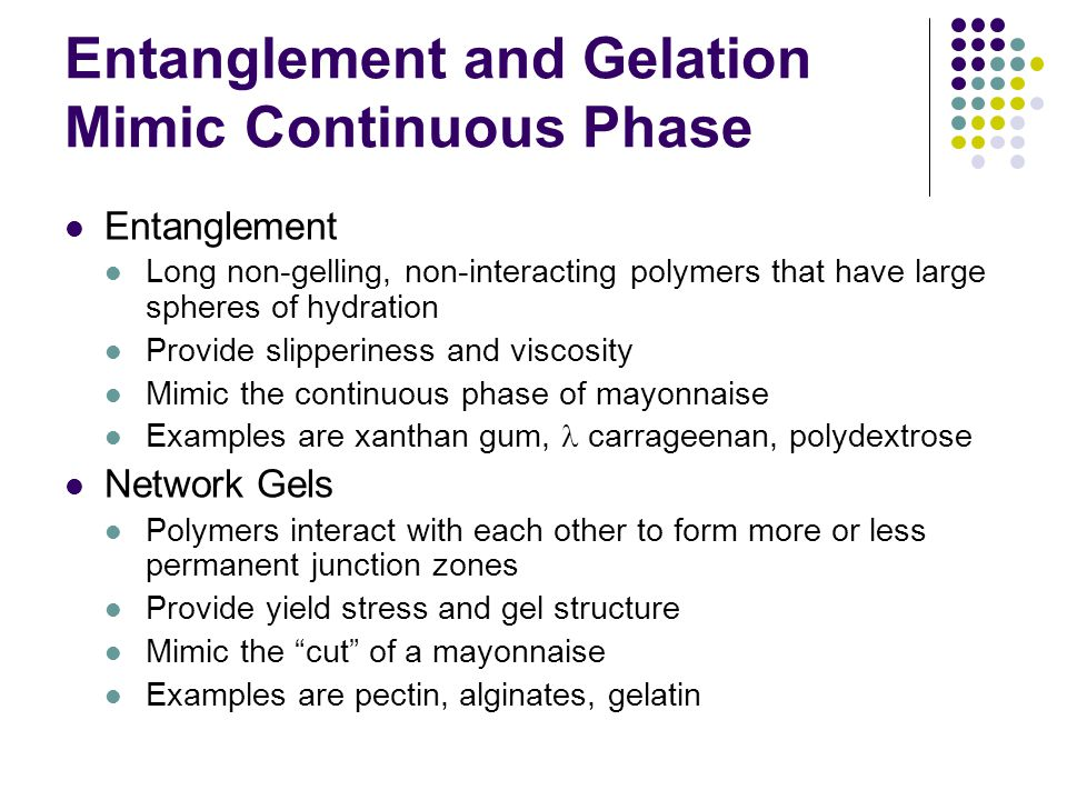 Entanglement and Gelation Mimic Continuous Phase