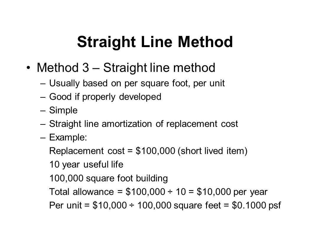 Straight Line Method Method 3 – Straight line method