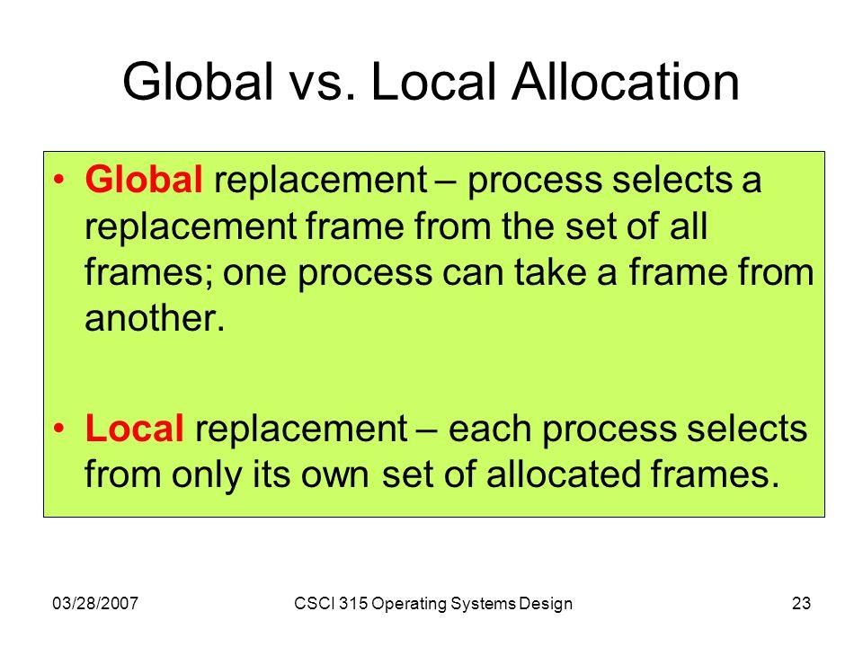 Global vs. Local Allocation