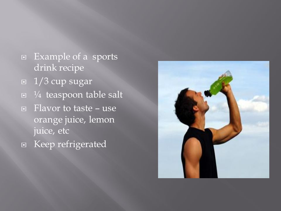 Example of a sports drink recipe