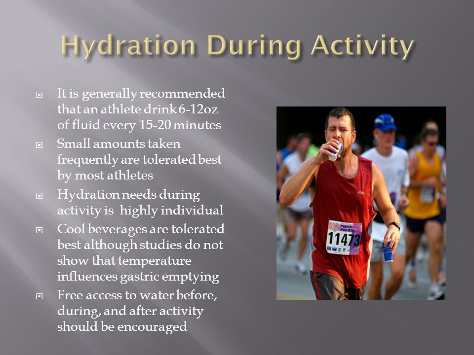 Hydration During Activity