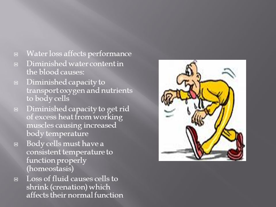 Water loss affects performance