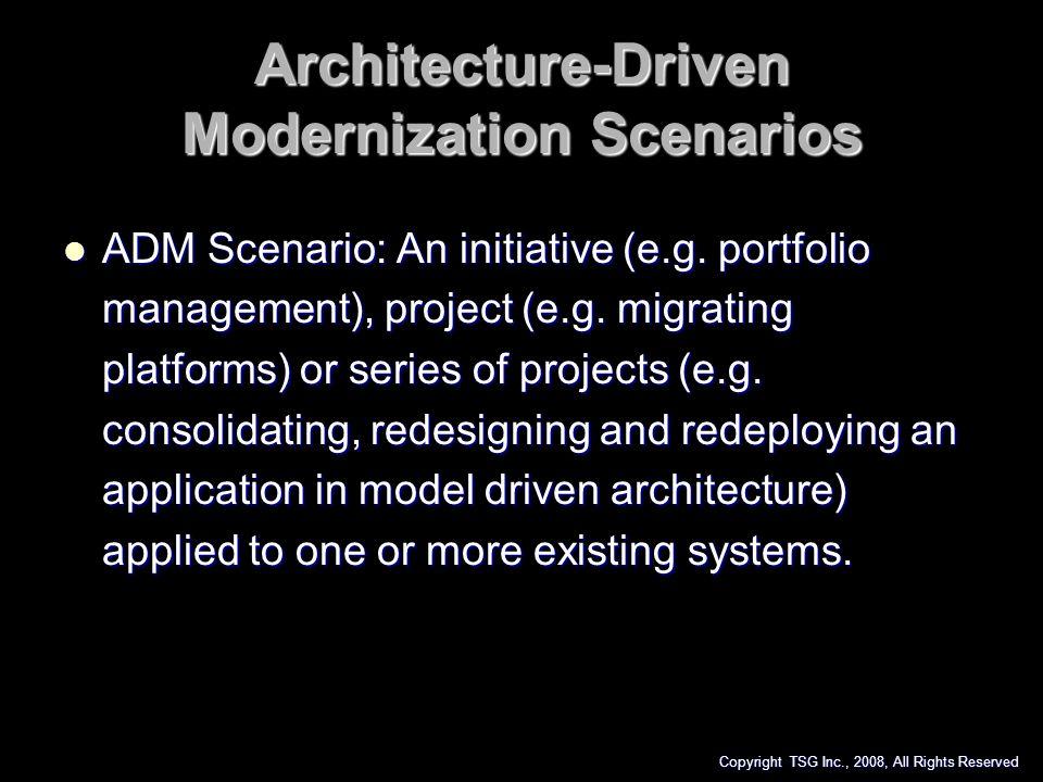 Architecture-Driven Modernization Scenarios