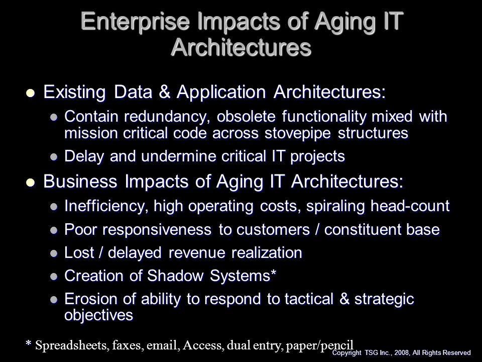 Enterprise Impacts of Aging IT Architectures