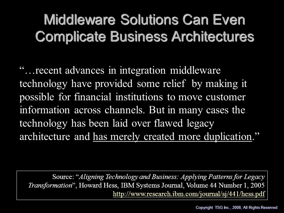 Middleware Solutions Can Even Complicate Business Architectures