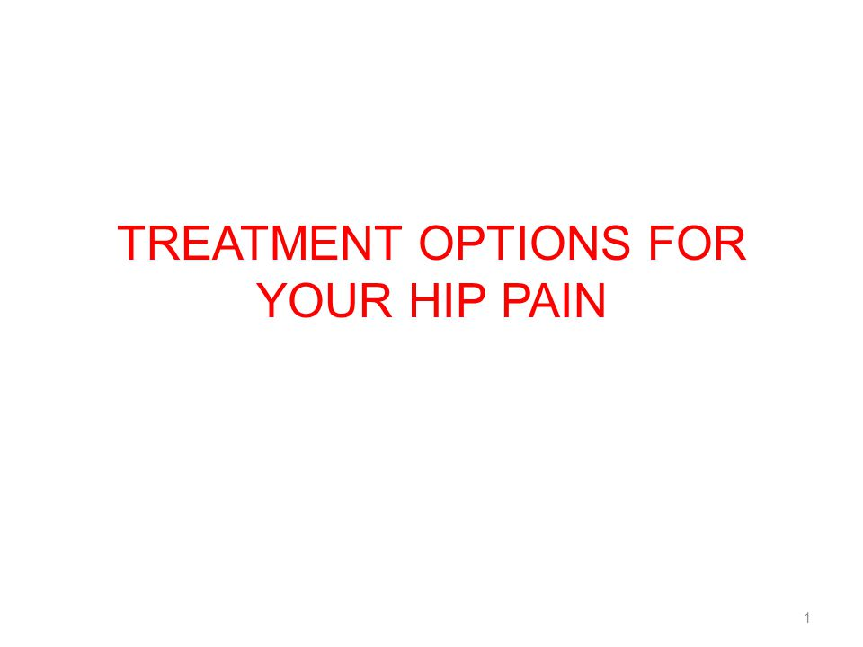 Treatment Options for your Hip Pain
