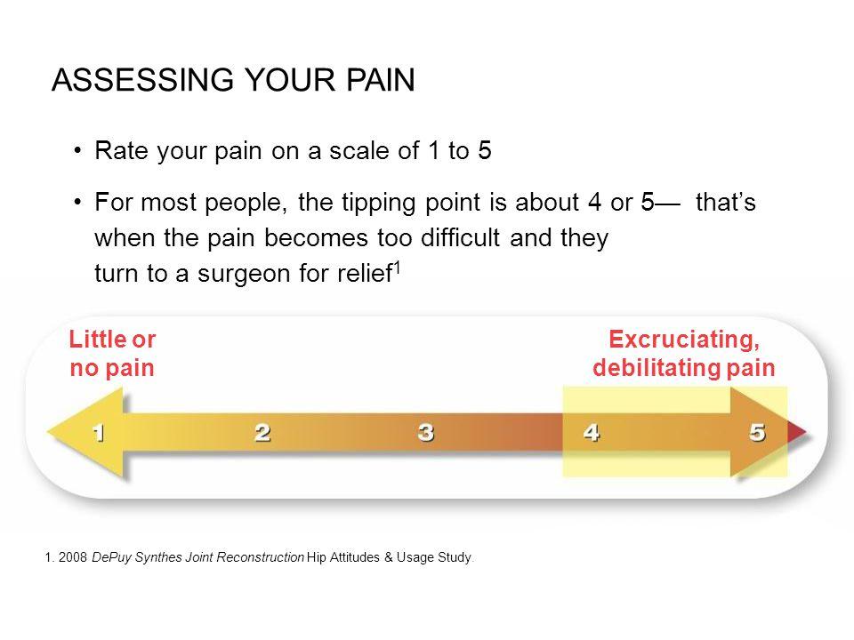Excruciating, debilitating pain