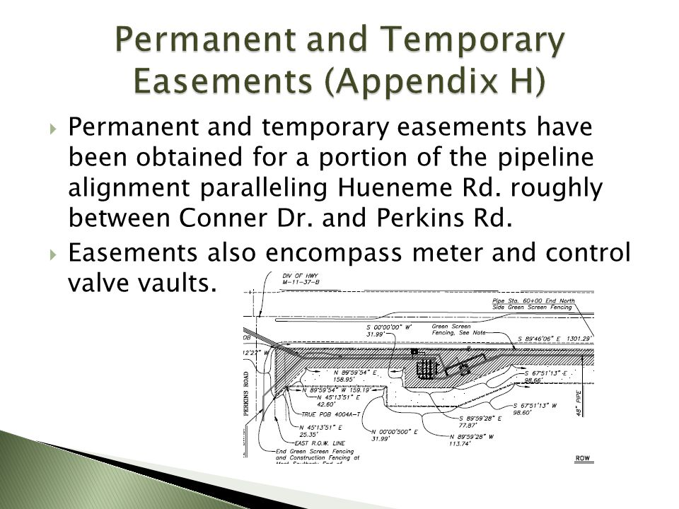 Permanent and Temporary Easements (Appendix H)