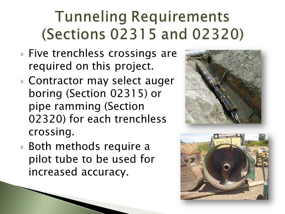 Tunneling Requirements (Sections 02315 and 02320)