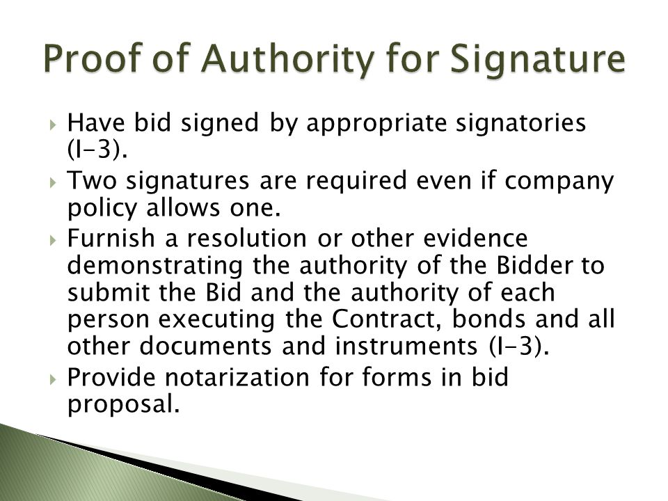 Proof of Authority for Signature