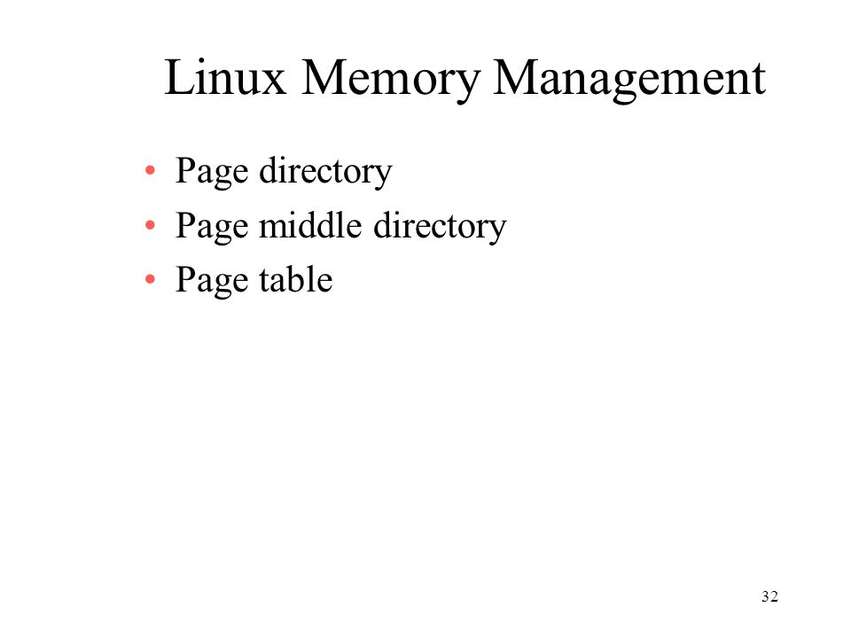 Linux Memory Management
