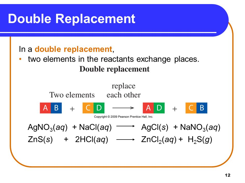 Double Replacement In a double replacement,