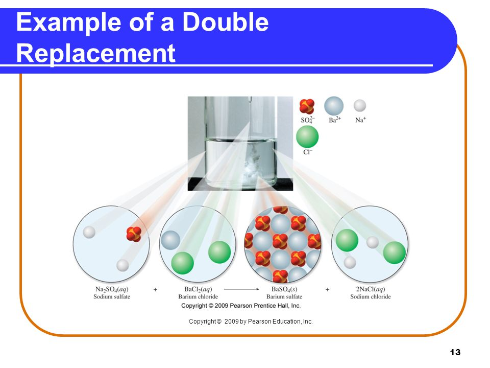 Example of a Double Replacement