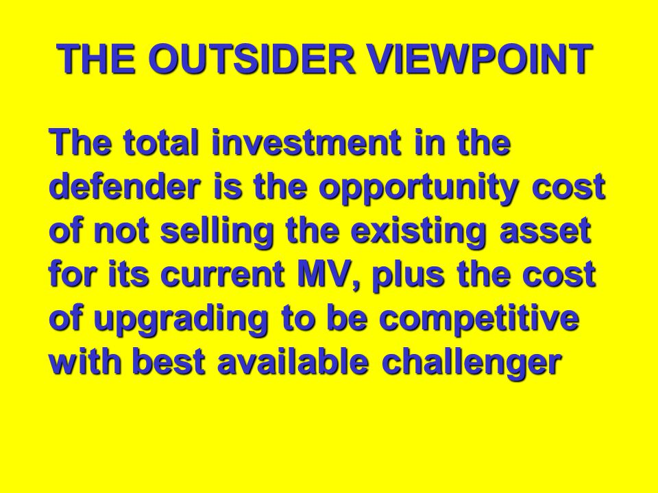 THE OUTSIDER VIEWPOINT
