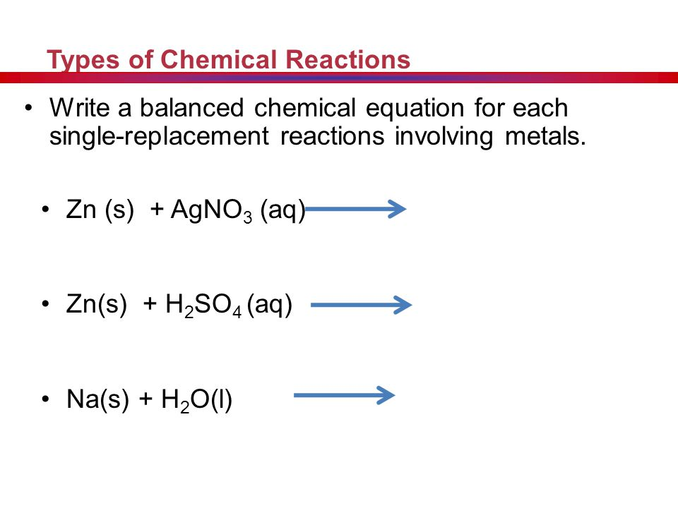 Worksheet #4: Single-Replacement Reactions Step 1 - Write the ...