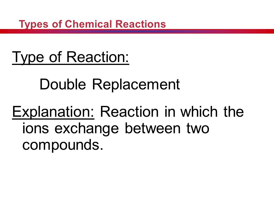 Type of Reaction: Double Replacement