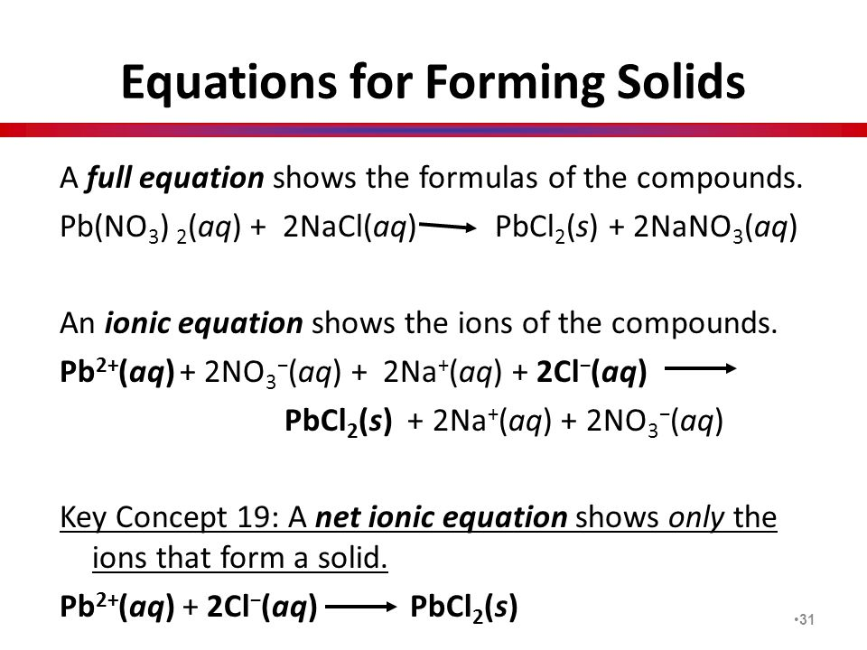 Equations for Forming Solids
