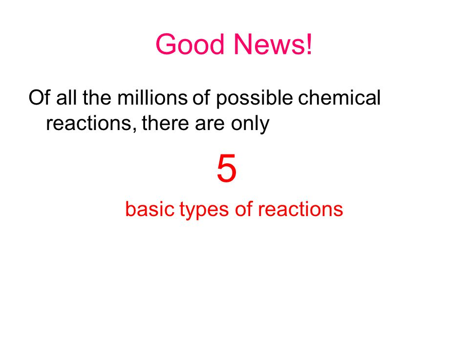 basic types of reactions