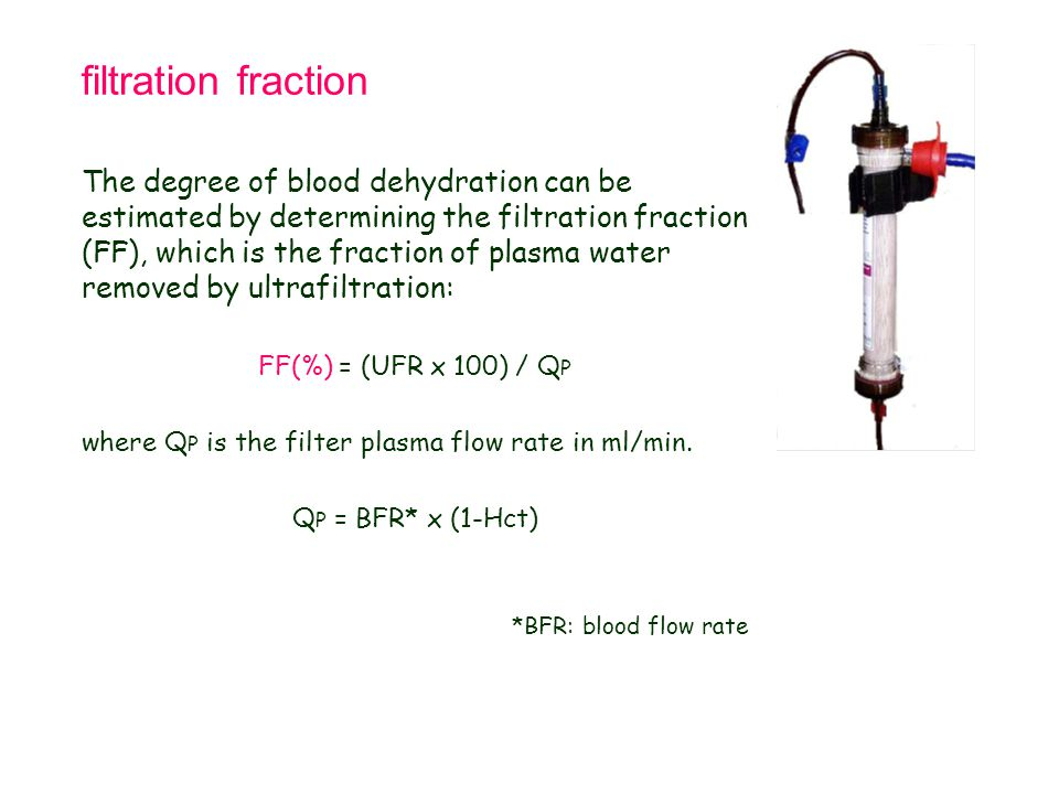 Tetralogy of Fallot 21.9.98. filtration fraction.