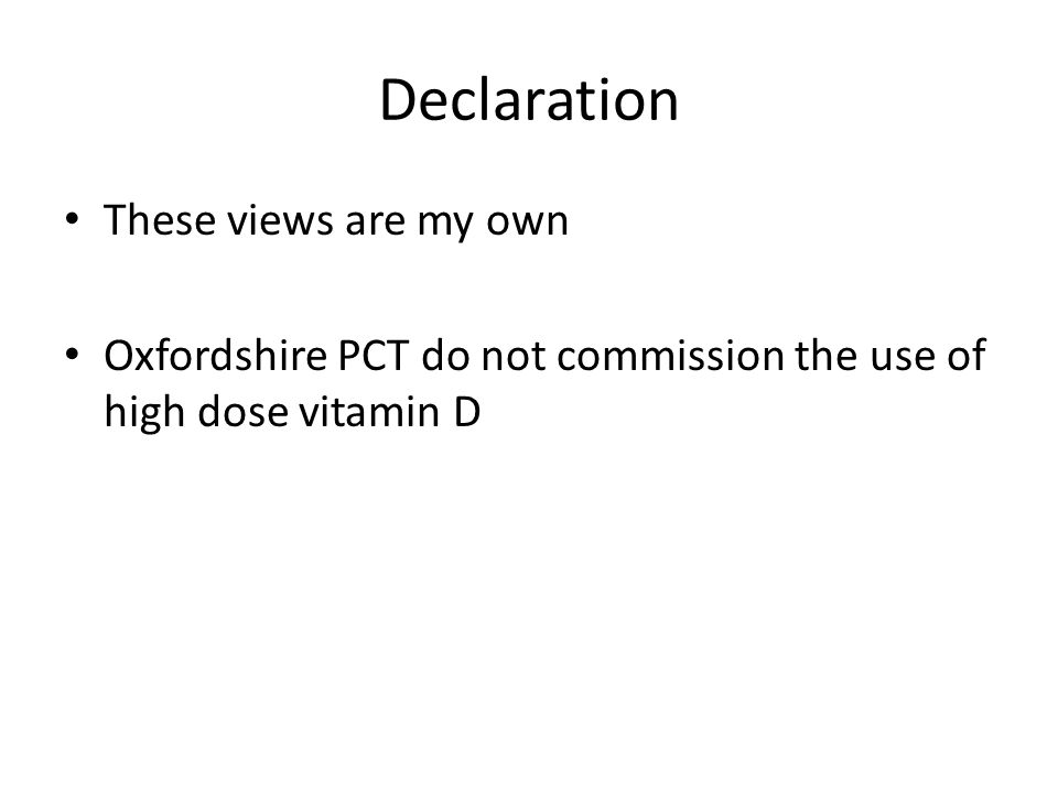 Declaration These views are my own