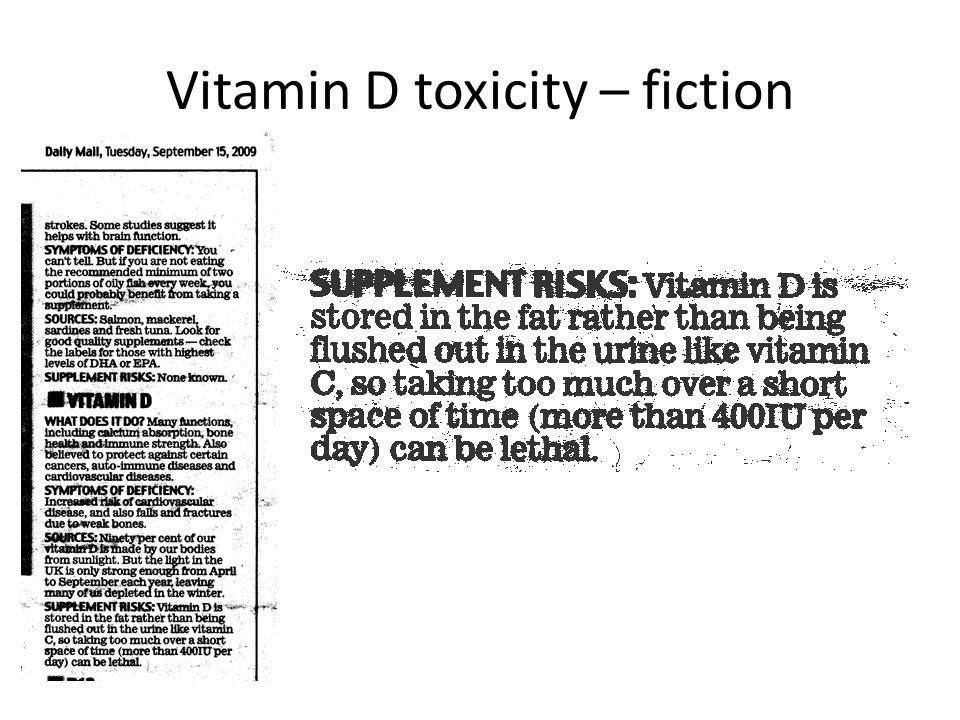 Vitamin D toxicity – fiction