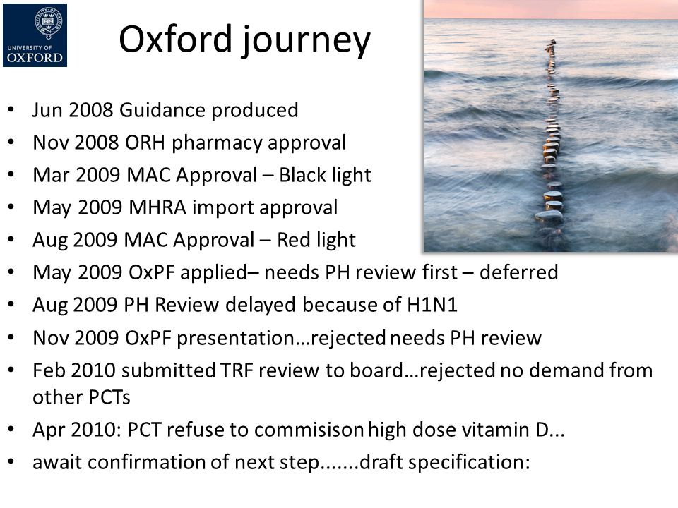 Oxford journey Jun 2008 Guidance produced
