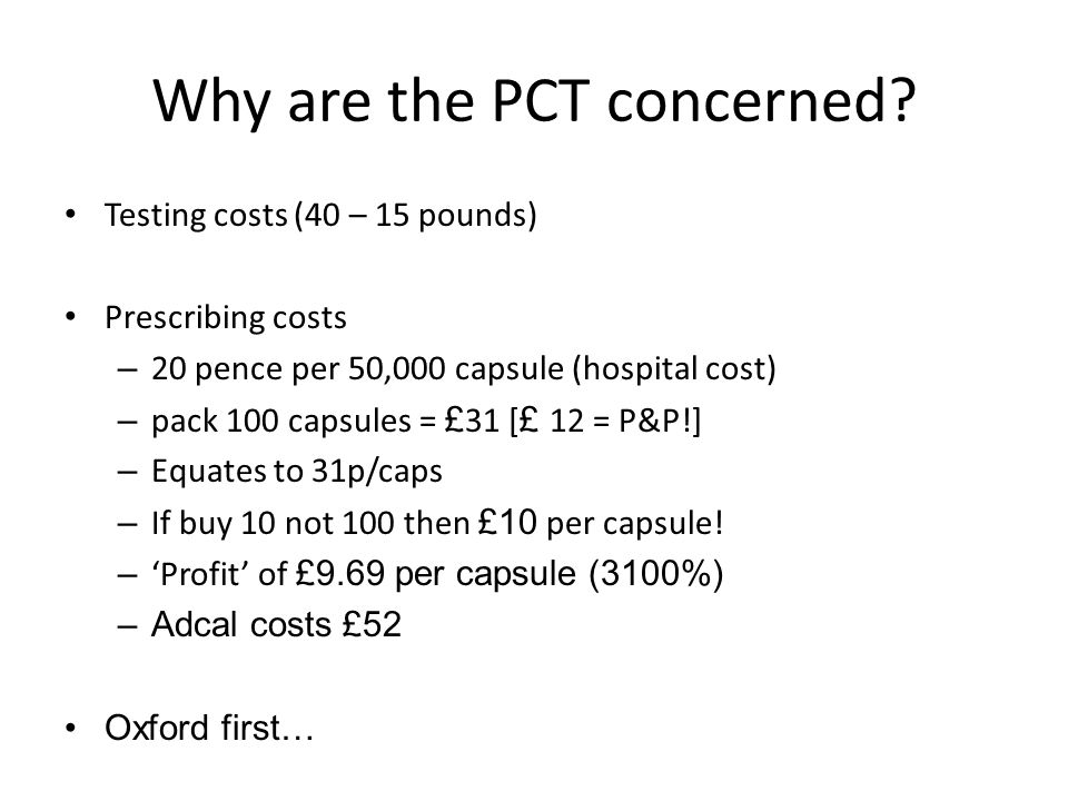 Why are the PCT concerned