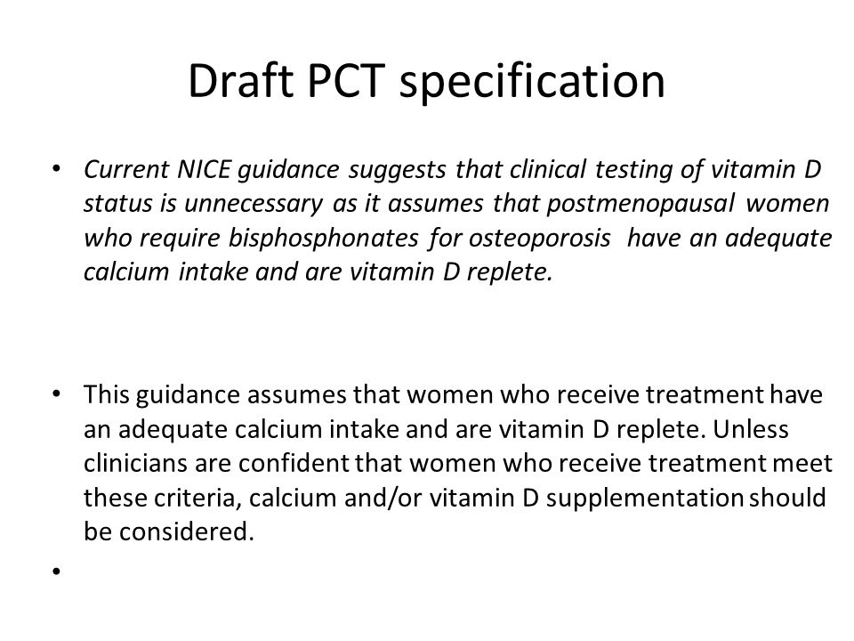 Draft PCT specification