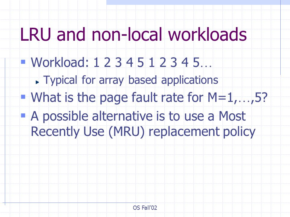 LRU and non-local workloads