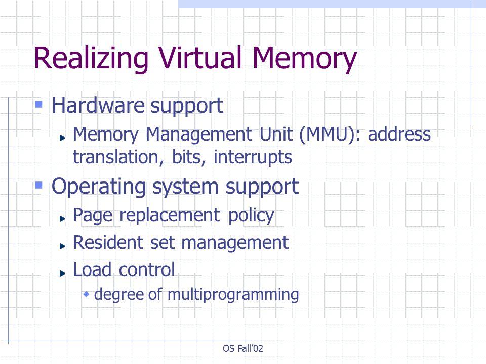 Realizing Virtual Memory