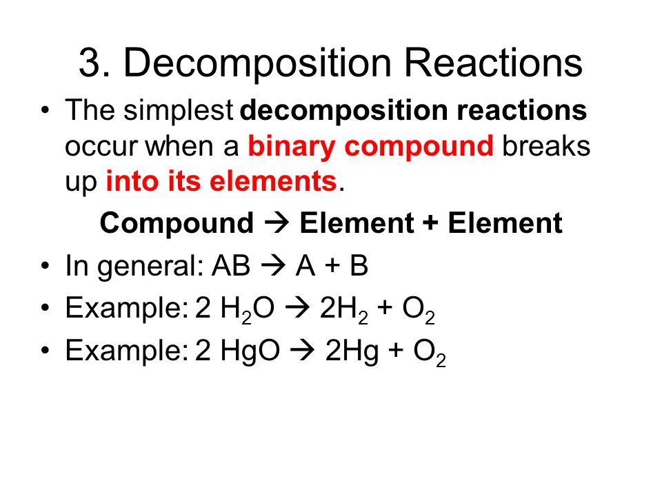 3. Decomposition Reactions