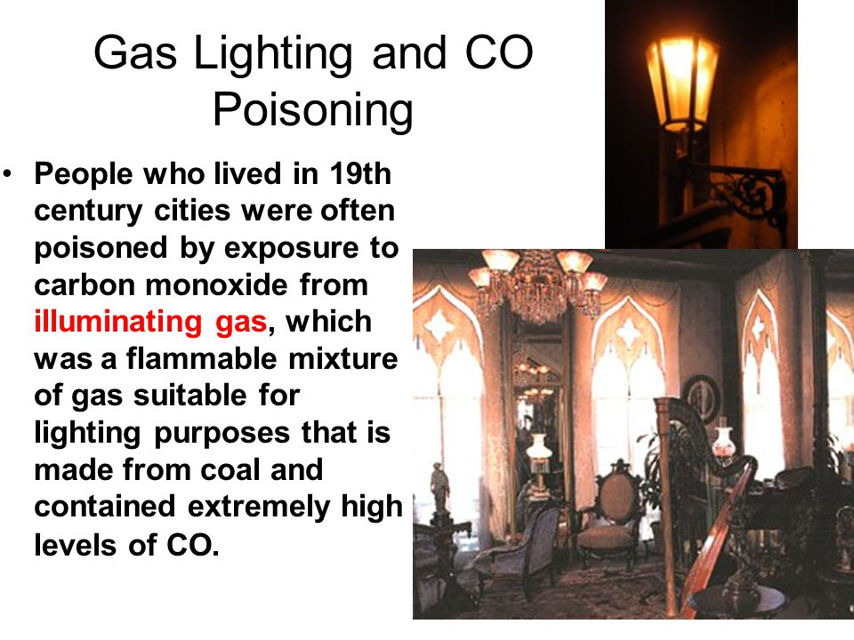 Gas Lighting and CO Poisoning