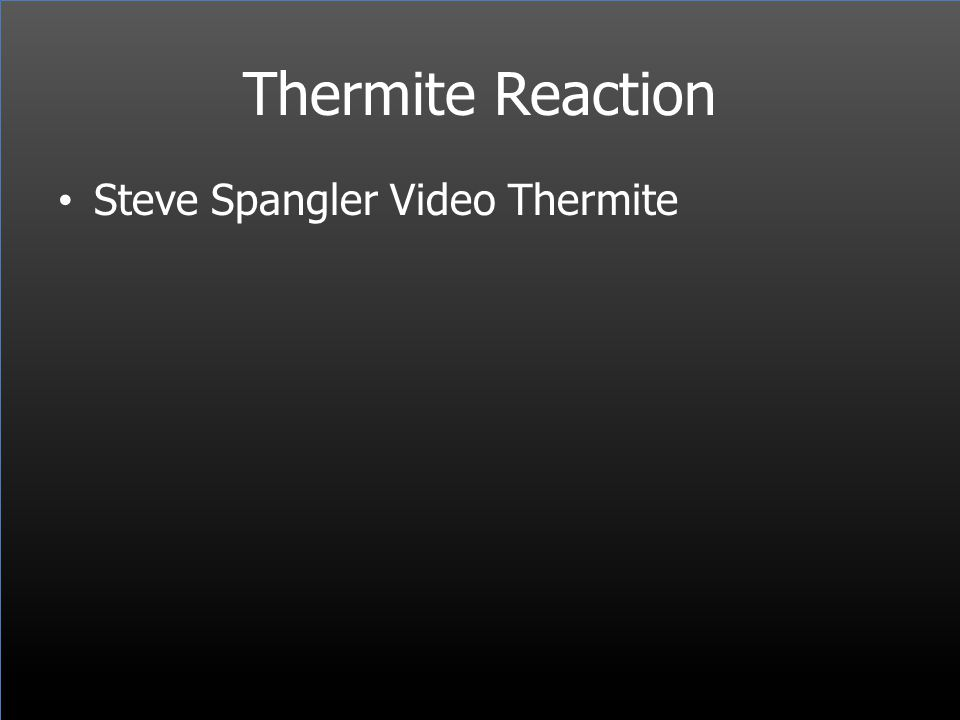Thermite Reaction Steve Spangler Video Thermite
