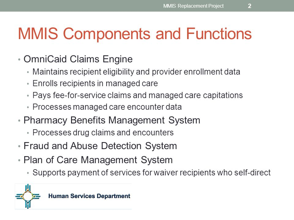 MMIS Components and Functions