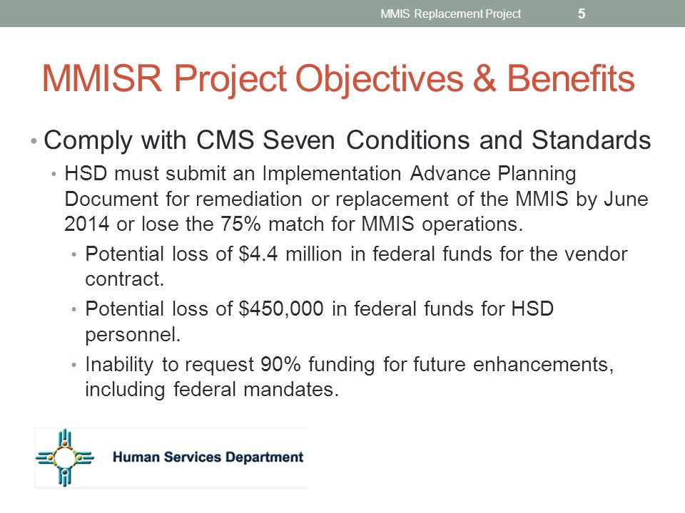 MMISR Project Objectives & Benefits