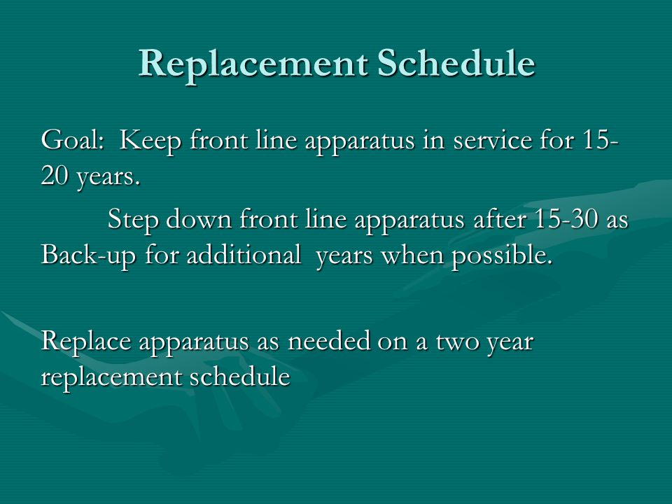 Replacement Schedule
