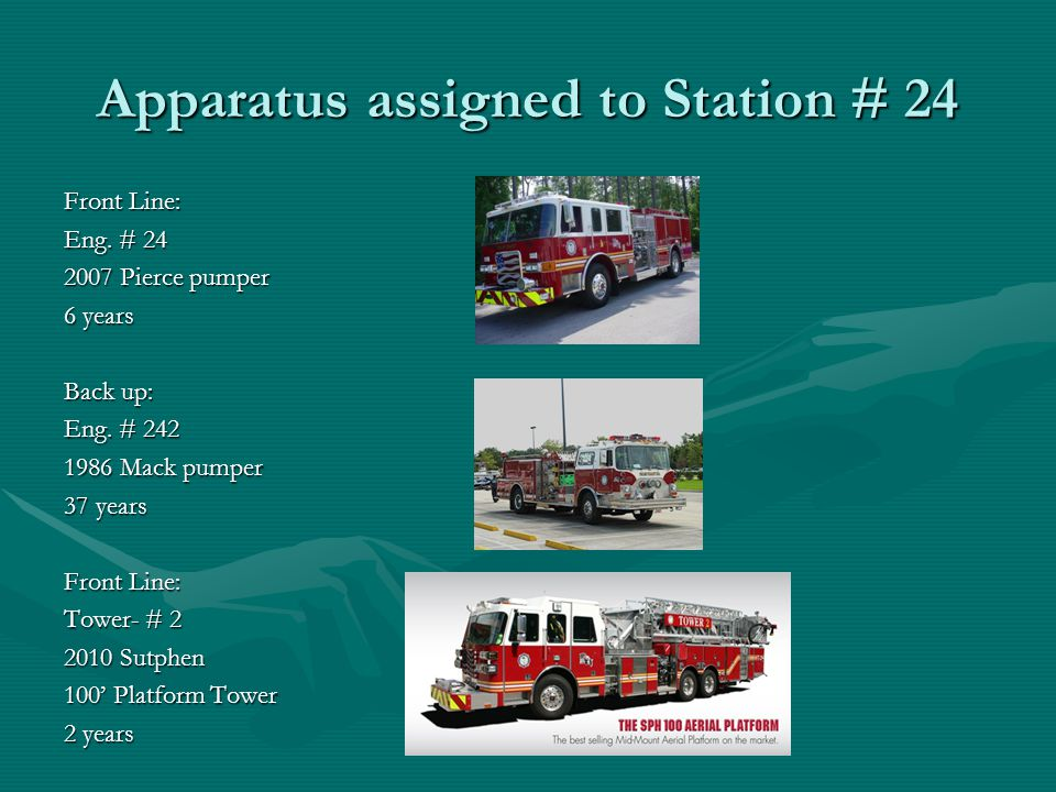 Apparatus assigned to Station # 24