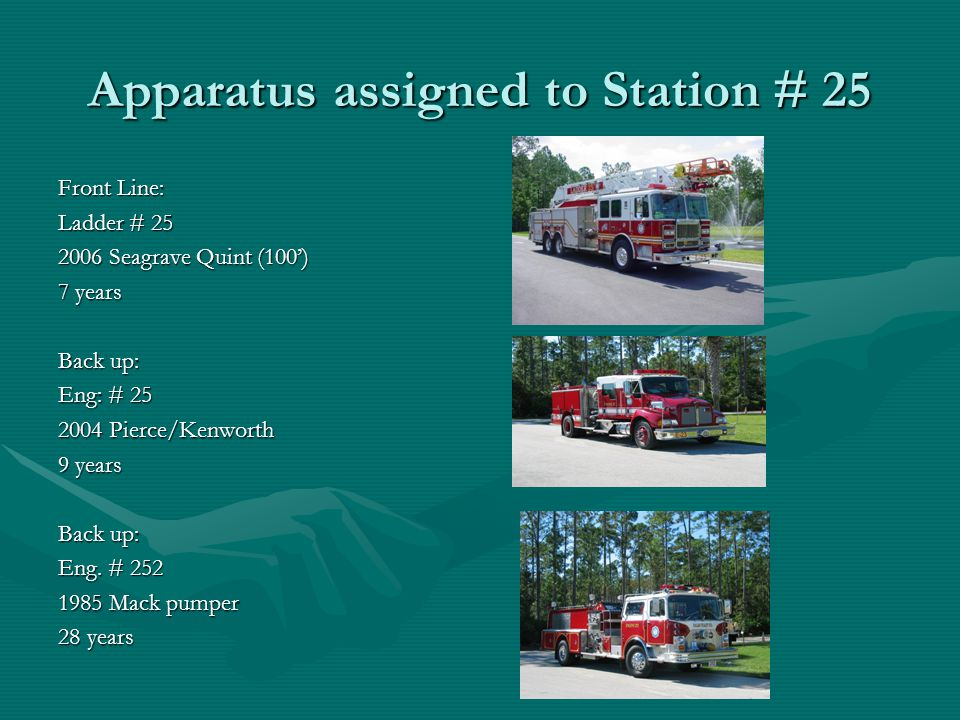 Apparatus assigned to Station # 25